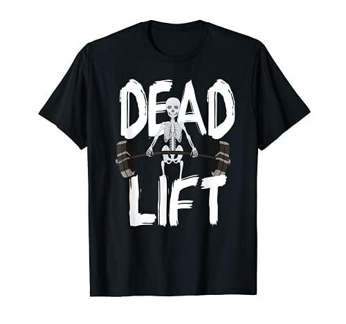 Esqueleto Deadlift Culturismo Halterofilia Gimnasio Camiseta