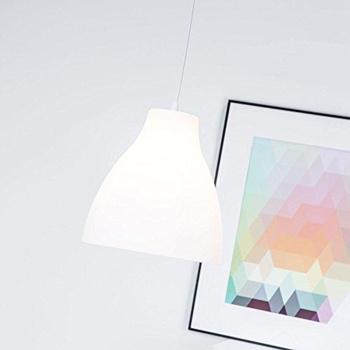 Preisvergleich Produktbild Moderne Pendelleuchte im schlichten Design,  E27 max. 60W,  Kunststoff,  weiß