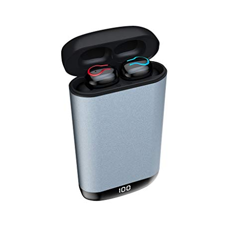 Eariy Bluetooth Binaural KopfhöRer, Adset Kabellose Wasserdichte SportkopfhöRer OhrhöRer Stereo OhrhöRer Mit 6000 Mah Ladefach, Kompatibel Mit Iphone, Samsung, Huawei, Android, Ios