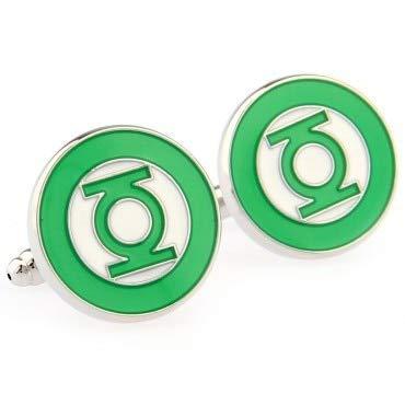 XKSWZD Manschettenknöpfe Manschettenknöpfe Set Green Lantern Manschettenknopf Shirt für Herren Business Hochzeit Schmuck Geschenk