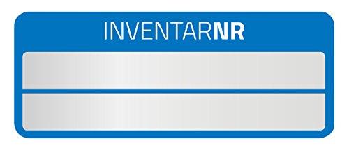 AVERY Zweckform 6910 Polyester Inventaretiketten (stark selbstklebend, strapazierbar, Kleinformat, 50x20 mm, 50 Aufkleber auf 10 Blatt) silber/blau