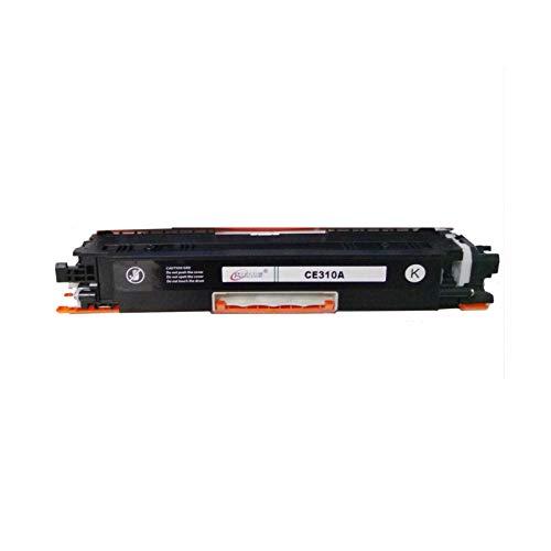 YXYX Cartucho de tóner compatible con HP CE310 para HP Laserjet Pro CP1025 CP1025NW M175A M175NW para HP PRO M275 para Canon LBP7010C 7018C con chips, repuesto de impresión HD, color negro