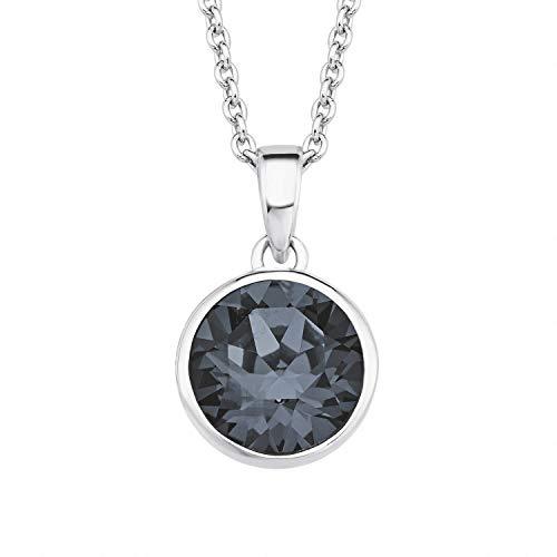s.Oliver Kette mit Anhänger für Damen mit Swarovski® Kristall aus 925er Sterling Silber