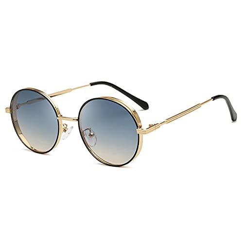 ShZyywrl Gafas De Sol Gafas De Sol Redondas para Mujer Gafas De Sol Graduadas Hombres Gafas De Sol De Metal Hombres Vi
