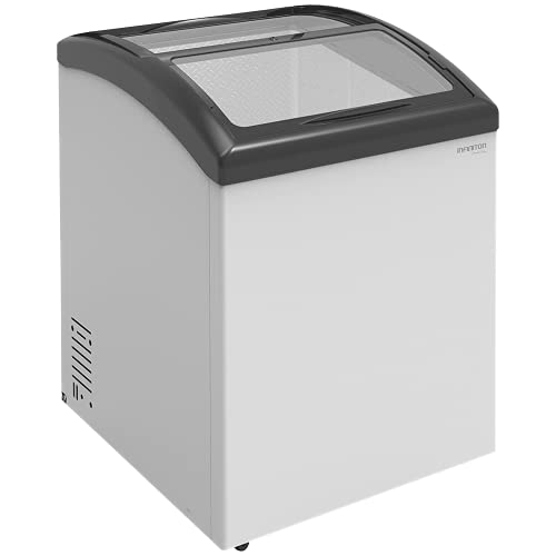 INFINITON Congelador Industrial Horizonal FCH-165, 165 Litros, Puertas de vidrio correderas, Clase C, Static Cooling System