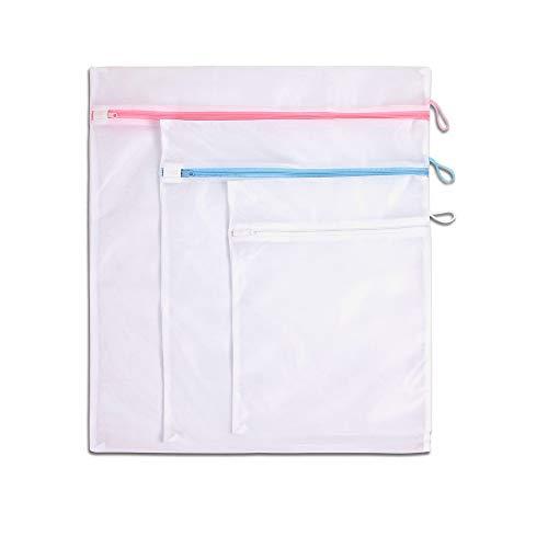 LaundrySpecialist® BOLSAS LAVADORA set de 3 piezas - ideal para lavar con seguridad ropa pequeña y/o delicada. Dimensiones: 30 x 40 cm / 40 x 50 cm / 50 x 60 cm. Incluye lazo para colgar