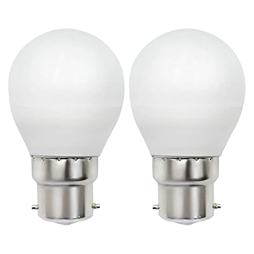 Lampadina a LED B22, Dimmerabile Luce Bianca Calda 3000K 5W Sostituisce G45 40W 50W 230V, B22D/BC Attacco a Baionetta, Lampada Senza Sfarfallio, Confezione da 2