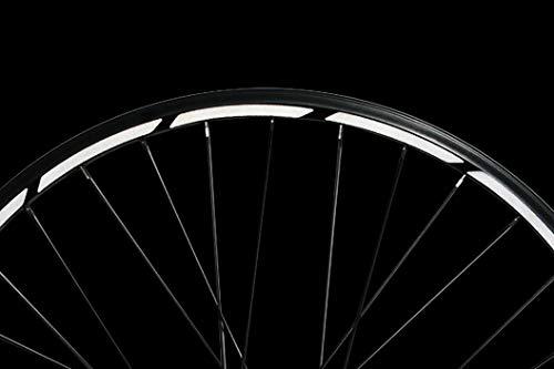 Reflektoren-Aufkleber fürs Fahrrad - 40 Streifen im Set - optimal für 27,5 28 und 29 Zoll Felgen – Farbe schwarz (weiß reflektierend) – hochwertige Sticker aus robuster 3M Qualitäts-Reflexfolie