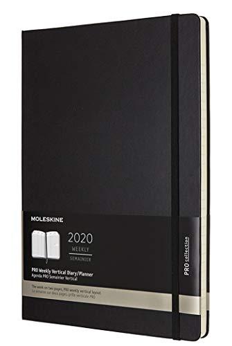 Moleskine 12 Mesi 2020 Agenda Settimanale, Copertina Rigida e Chiusura ad Elastico, Colore Nero, Dimensione A4, 288 Pagine