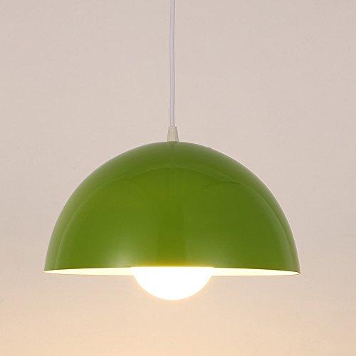 Pionthx Kreative halbrunde Metall-Pendelleuchte Fixture Individualität Höhenverstellbare Abdeckung decken LED Deckenleuchte Kronleuchter für Lager Restaurant Supermarkt Fabrik (Color : Green)