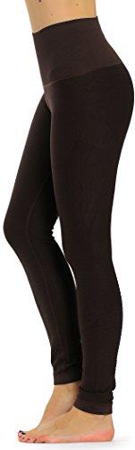 Prolific Health High Compression Women Pants Yoga Fitness Leggings (Small/Medium, Coffee)