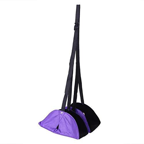 Portable Chair Office Home Foot Hangmat Relief Voetvermoeidheid Reizen Outdoor Indoor Voeten Rest Flexibele hangmat, paars