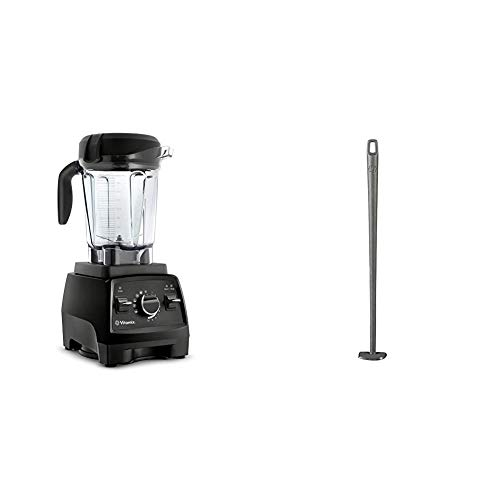 Vitamix Professional Series 750 Blender, Professional-Grade, 64 oz. Low-Profile Container, Black, Self-Cleaning - 1957 & Blade Scraper Accessory, Grey