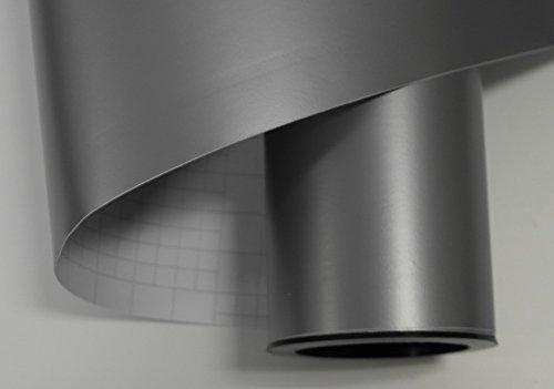 Könighaus (7,56/m2) Silber Matt Autofolie 200 x 152 cm mit Luftkanälen + Gratis Rakel inkl. Anleitung
