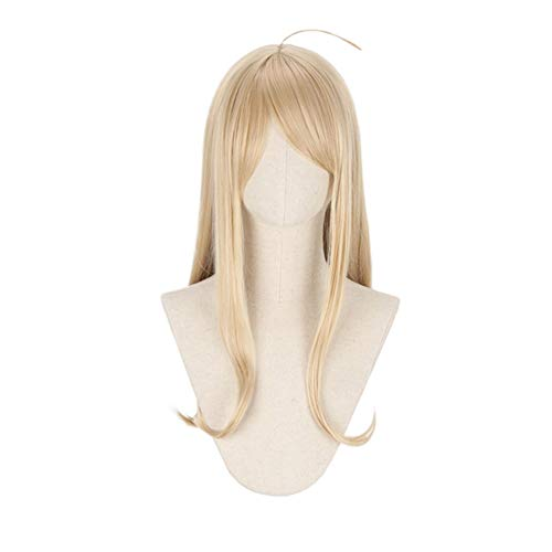 """Missvig Cosplay Wig Long Straight Blonde Halloween Party Wig New Danganronpa V3 Costume Hair 24"""" For Women"""