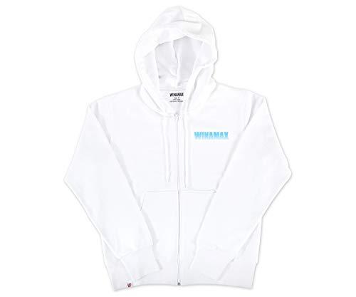 WINAMAX Sweatshirt zippé Homme Blanc Logo Miramax Bleu Ciel - S