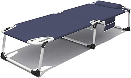 Fortalecer la Cama Plegable de una Malla de una Sola Cama Plegable Cama de la Cama de Almuerzo Siesta Siesta Recliners Campamento Cama de Campamento Cama al Aire Libre Cama de desc
