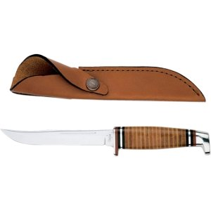 CASE XX WR Pocket Knife Fixed Blade Polished Leather Item #381 - (316 5 SS) - Length Closed: 9 1/2 Overall Inches -  WR Case & Sons Cutlery Co