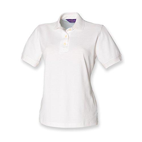 Henbury – Polo piqué pour femme, manches courtes - Blanc - L