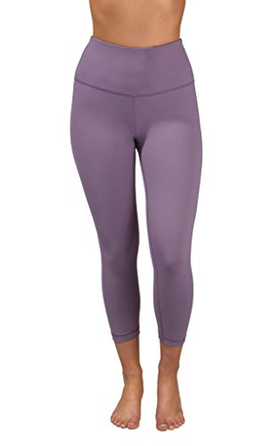 90 Degree By Reflex - High Waist Tummy Control Shapewear - Power Flex Capri - Plum Shadow - Large