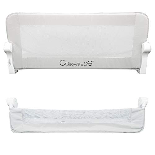 Callowesse Bed Rail for Toddlers. Portable Bed Rail 100 x 42cm Grey. Suitable for Raised Bed Sides