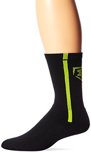 Under Armour Men's Baseball Crew Socks (1 Pair), Hi Vis Yellow, Large