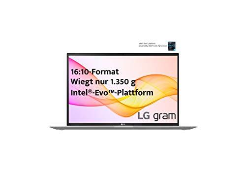 LG gram 17 Zoll Ultralight Notebook NEW 2021 Edition - 1,35 kg leichter Intel Core i7 Laptop (16GB LPDDR4, 1 TB SSD, 19,5 h Akkulaufzeit, WQXGA IPS Display, Thunderbolt 4, Windows 10 Home) - Silber