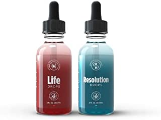 TLC IASO Diet Duo Resolution & Life Weight Loss Drops: 2 Oz - 60 ML (Resolution & Life Drops)