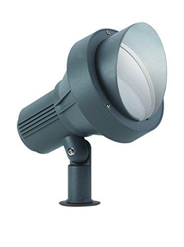 IDEAL LUX TERRA PT1 Big buitenlamp antraciet E27 buitenverlichting (vloerverlichting voor buiten, antraciet, aluminium, glas, IP67, garage, transparant)