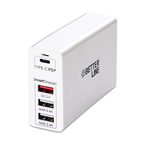 High-End PD(100W)/QC Charger, 4-Port Power Delivery/QC3.0 for MacBook Pro, Laptop, Galaxy Note10 +, IPad Pro, HP, Asus, MSI, LG, Gaming Laptop, Nintendo Switch,Rog