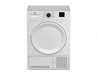 Beko DTLCE80021W 8Kg Condenser Tumble Dryer - White - B Rated