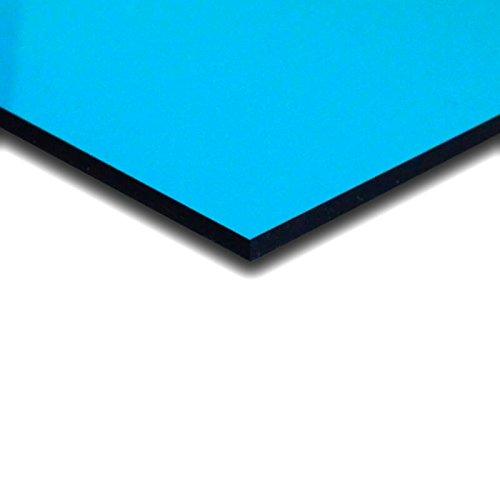 3 mm PLEXIGLAS® hellblau 5C18 GT, transparentes farbiges Acrylglas mit einer Lichtdurchlässigkeit von 64%, Maße: 25x25x0,3 cm