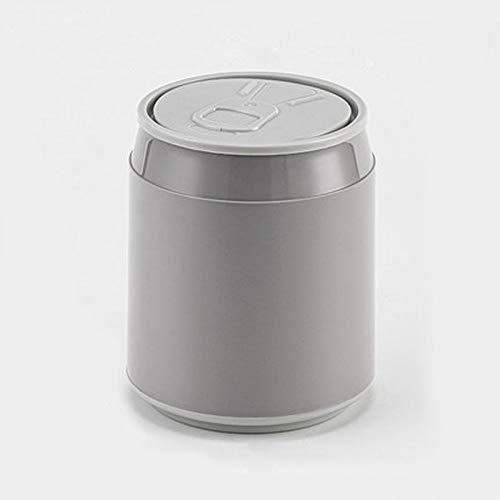 NYKK Countertop Mülleimer Die Form des Can Kunststoff Kleine Tiny Büro Aufsatz- Garbage Can Aufsatz- Trash Can Poke öffnen Desktop Trash Can (Color : Gray)
