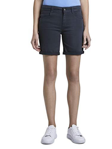 TOM TAILOR Damen Jeanshosen Alexa Slim Bermuda Shorts Sky Captain Blue,28,10668,6000