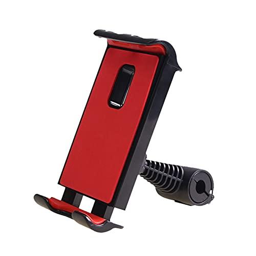 Tablet Tablet Teléfono Asiento Ajustable Soporte de iPad Soporte para automóvil para Reposacabezas 360 Rotación Teléfono Móvil Montaje Montaje (Color : Red)