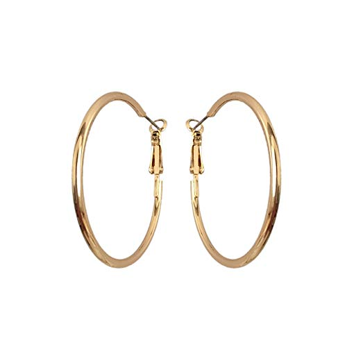 Mode einfache mittlere Größe Creolen Gold Farbe Creolen für lässige Büro Ohrringe Großhandel