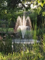 Wasserfarm Garten-Teich Springbrunnen Komplett-Set inkl 3 Aufsätze und Pumpe