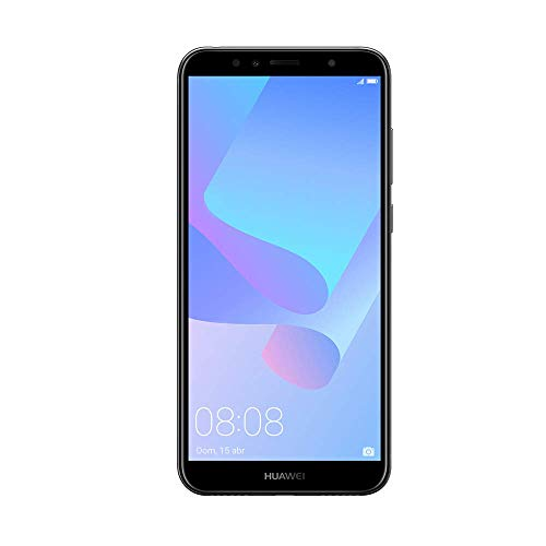 "Huawei Y6 2018 - Smartphone de 5.7"" (Memoria Interna de 16 GB, RAM de 2 GB, Display TFT HD+ 18:9, cámara de 13 MP, Android 8.0 (Oreo)), Color Negro"