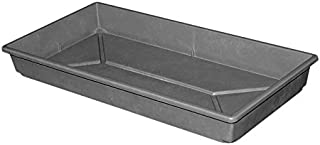 """MFG Tray 1105085116 Toteline Nesting Container, Seed Tray, Glass Fiber Reinforce Plastic Composite, 21.5"""" x 11"""" x 2.5"""", Slate"""