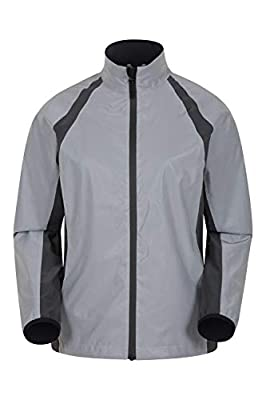 Mountain Warehouse Shine Womens Reflective Jacket - Waterproof Ladies Cycling & Running Jacket, Scooped Back, Underarm Zips - Ideal for Sports & Camping