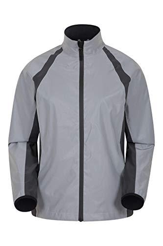 Mountain Warehouse Shine Reflektierende Jacke für Damen - wasserdichte Damen-Rad- und Laufjacke, geschöpfter Rücken, Reißverschlüsse unter den Armen -für Sport & Camping Silber 42
