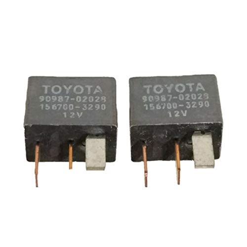2 Pack Air Conditioner Relay OEM Replace 90987-02028 Magnet Clutch Relay A/C Relay Switch For Toyota 4Runner 2002-2011 Corolla Sienna RAV4 Prius Lexus