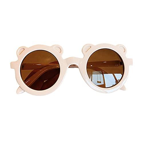 Vigcebit - Gafas de sol redondas de dibujo animado para niños, gafas de protección UV para fotografía playa al aire libre