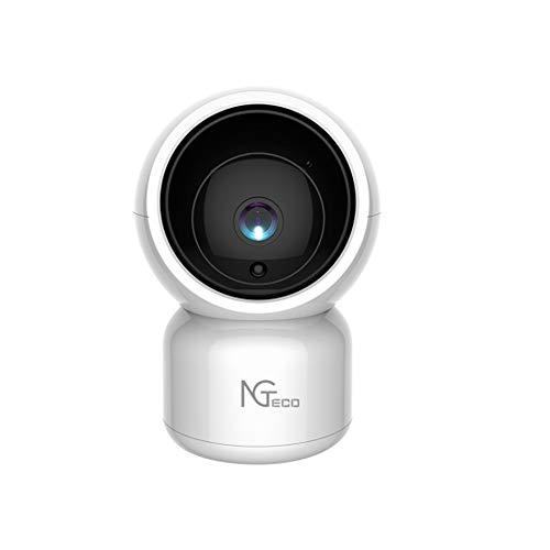 NGTeco Camara Vigilancia WiFi Interior - Powered by ZKTeco- Cámara Compatible con Alexa WiFi FHD 1080P 360° Control Remoto- Audio Bidireccional Detección Movimiento