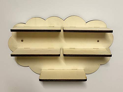 DIY Regal erweiterung Wolke für die Musikbox passend für Toniebox Kinder Baby Zimmer zum selbst bemalen Deko tolles individuelles Geschenk Geburtstag