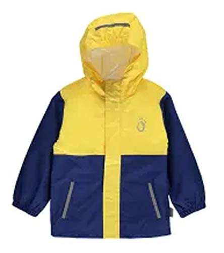 lamino Regen-Jacke Bequeme Kinder Outdoor-Jacke Freizeit-Jacke Funktions-Jacke Gelb/Blau, Größe:116