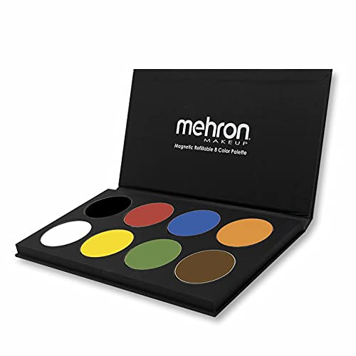 Mehron Makeup Paradise AQ Face & Body Paint 8 Color Palette (Basic) - Face, Body, SFX Makeup Palette, Special Effects, Face Painting Palette for Art, Theater, Halloween, Parties and Cosplay