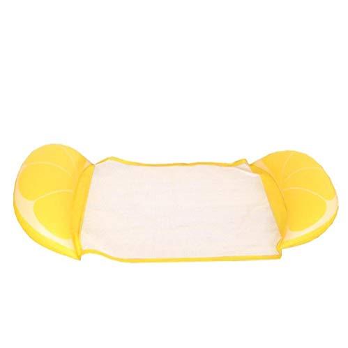 MSFX Wasser Mit Netto-Zitrone Aufblasbar Schwimmende Reihe Sommer Draussen Schwimmende Liege Schwimmstuhl Tragbar Kids Adults Luftmatratze Verschleißfest Schwimmfloß Wasserspielzeug