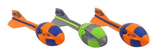 Nerf Vortex Aero Aero Howler - Balón de fútbol, Unisex, 2 Naranjas, 1 Verde, 32 cm