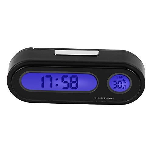 KSTE 2 in 1 Auto-Fahrzeug-Innen Mini elektronischer Uhr Digitaluhr-Thermometer Voltmeter